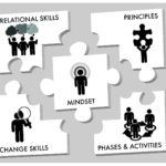 MiiWrap compnents include principles, phases and activites, change skills, relational skills, and the MiiWrap mindset.